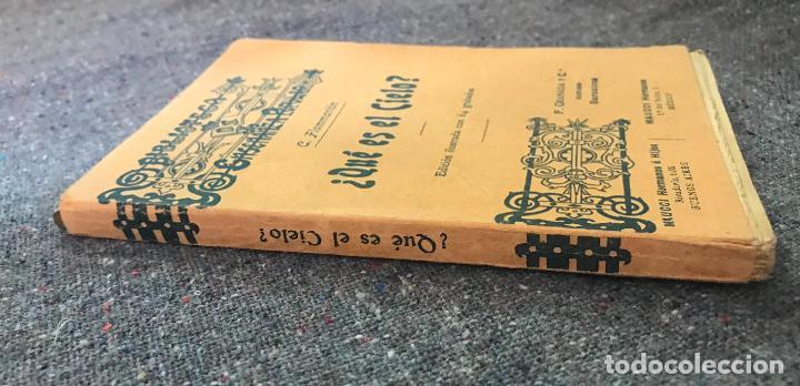 Libros antiguos: Biblioteca de enseñanza popular - ¿Que es el cielo? C. flammarion - Edicion ilustrada - Foto 2 - 155975198