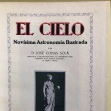 Libros antiguos: ASTRONOMIA- EL CIELO- NOVISIMA ASTRONOMIA ILUSTRADA- JOSE COMAS SALA CA- 1.92.... Lote 161615440
