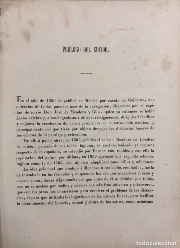 Libros antiguos: COLECCION COMPLETA DE TABLAS DE NAVEGACION DE MENDOZA. MADRID, 1973. PAGS 548. - Foto 5 - 159625298