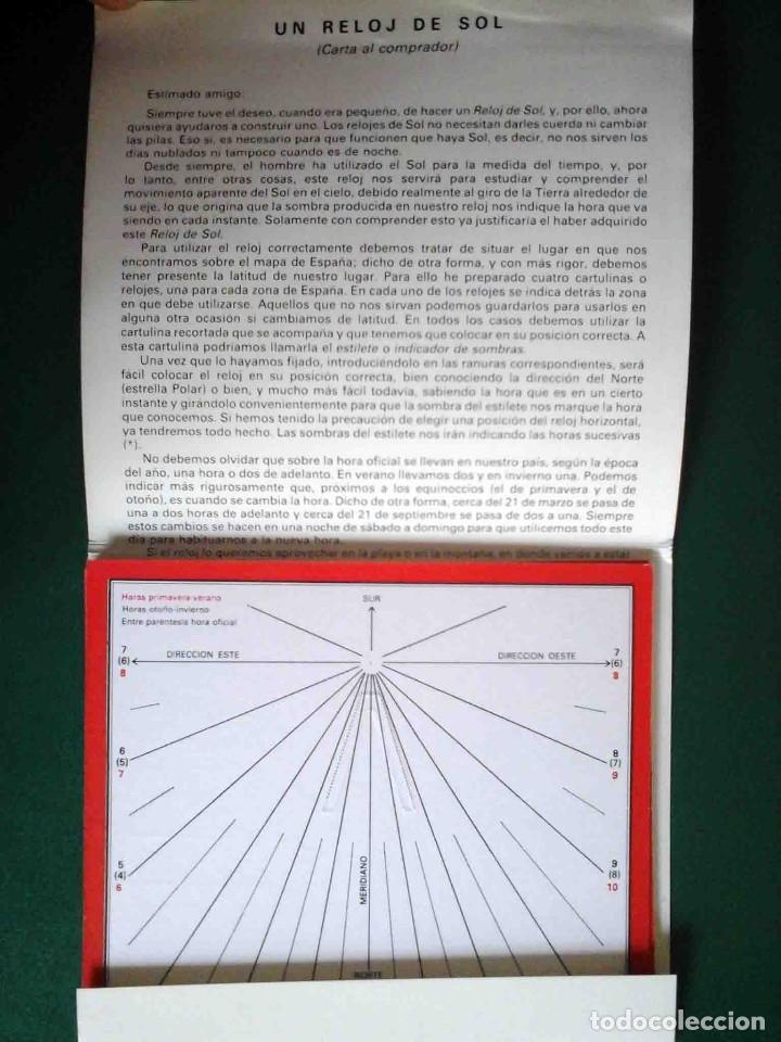 Libros antiguos: Reloj de sol - Fernando Martín Asín, 1987 - Foto 2 - 162125010