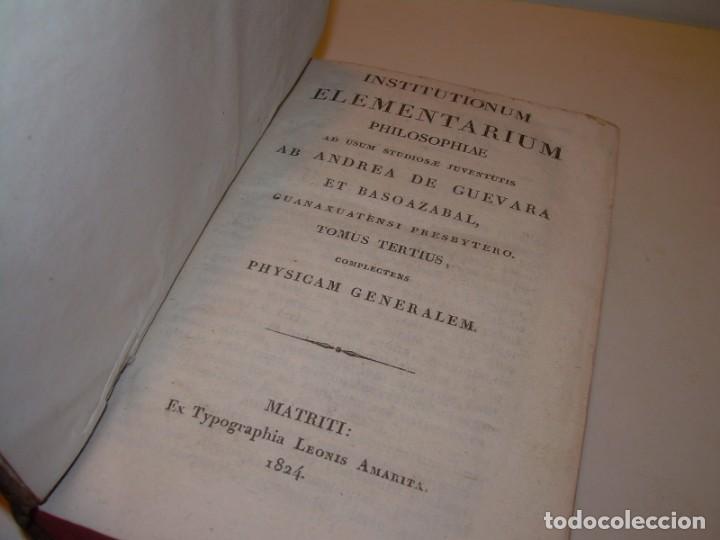 Libros antiguos: LIBRO TAPAS DE PIEL..ASTRONOMIA - FISICA - HIDROESTATICA, ETC. CON 5 LAMINAS DESPLEGABLES..AÑO 1824. - Foto 3 - 162140238