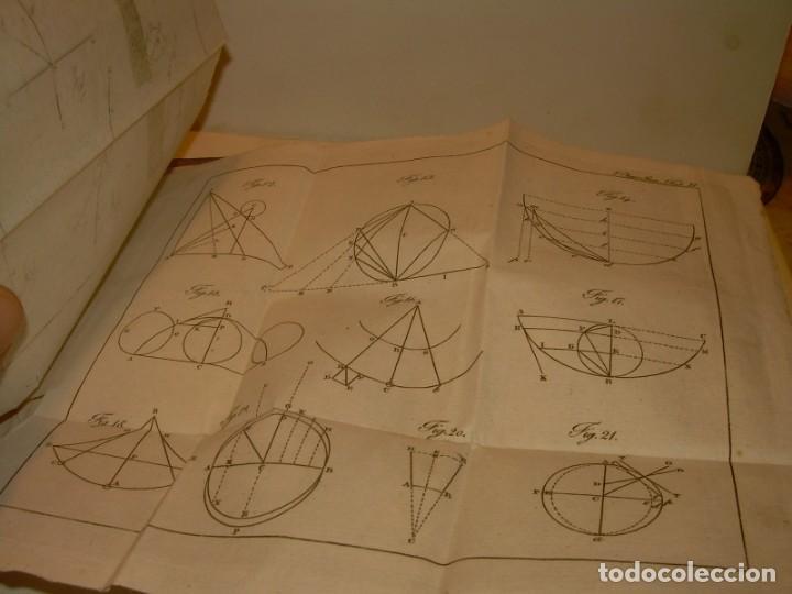 Libros antiguos: LIBRO TAPAS DE PIEL..ASTRONOMIA - FISICA - HIDROESTATICA, ETC. CON 5 LAMINAS DESPLEGABLES..AÑO 1824. - Foto 16 - 162140238