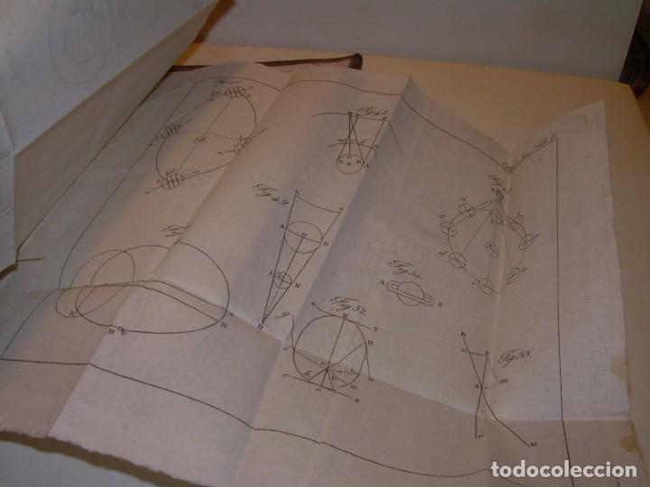 Libros antiguos: LIBRO TAPAS DE PIEL..ASTRONOMIA - FISICA - HIDROESTATICA, ETC. CON 5 LAMINAS DESPLEGABLES..AÑO 1824. - Foto 19 - 162140238