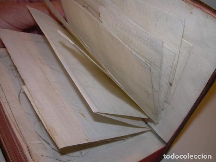 Libros antiguos: LIBRO TAPAS DE PIEL..ASTRONOMIA - FISICA - HIDROESTATICA, ETC. CON 5 LAMINAS DESPLEGABLES..AÑO 1824. - Foto 23 - 162140238