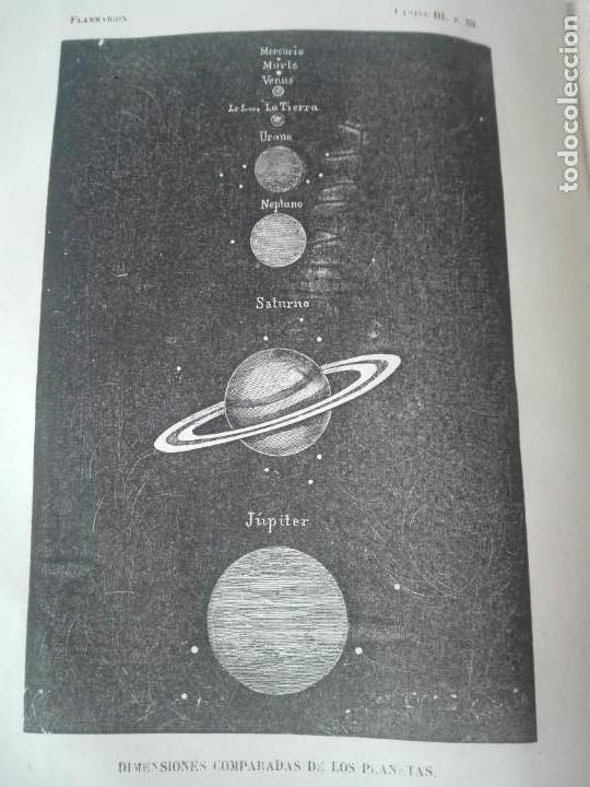 Libros antiguos: LA PLURALIDAD DE MUNDOS HABITADOS FLAMMARION ILUSTRADO PRIMERA EDICION 1866 - Foto 6 - 163987182