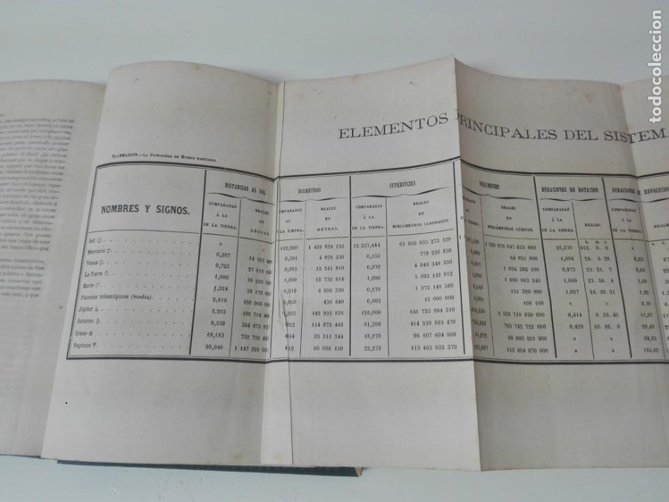Libros antiguos: LA PLURALIDAD DE MUNDOS HABITADOS FLAMMARION ILUSTRADO PRIMERA EDICION 1866 - Foto 7 - 163987182