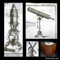 Libros antiguos: AÑO 1755 TELESCOPIO MICROSCOPIO MOLINOS ASTRONOMÍA ESPECTÁCULO DE LA NATURALEZA PLUCHE 20 GRABADOS. Lote 165266054