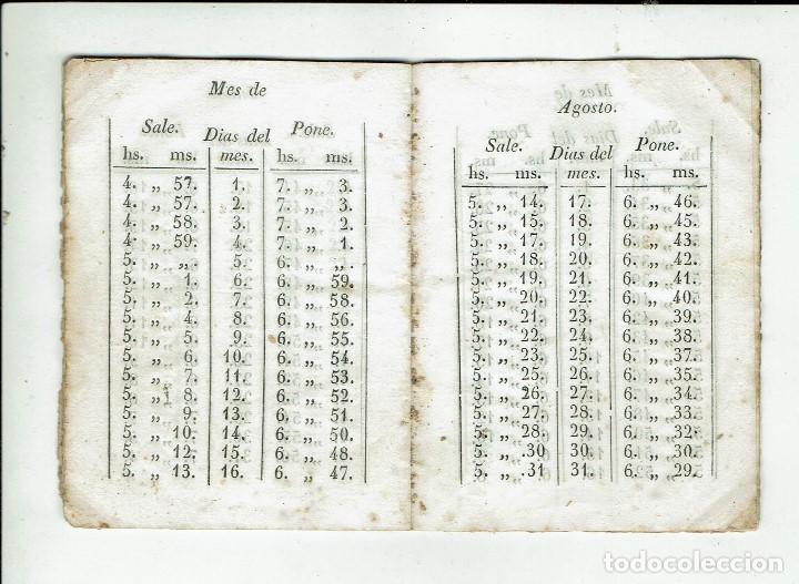 Libros antiguos: TABLA PARA SABER EN TODOS LOS DÍAS DEL AÑO A QUE HORA Y MINUTOS SALE Y SE PONE.... 1848(MENORCA.15.7 - Foto 3 - 168318956