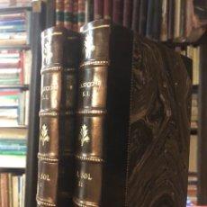 Libros antiguos: EL SOL. SECCHI, A. SEVILLA: IMPRENTA DE BALDARAQUE, 1879. 2 TOMOS COMPLETO. BONITA ENCUADERNACIÓN.. Lote 165372994