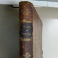 Libros antiguos: TABLAS PARA LOS USOS DE LA NAVEGACION Y ASTRONOMIA NAUTICA, AÑO 1898, L11618. Lote 169323804