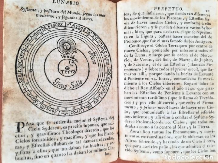 Libros antiguos: LIBRO ASTRONOMIA,LUNARIO PRONOSTICO PERPETUO GENERAL,AÑO 1768, SIGLO XVIII,ECLIPSES,ASTROS,PLANETAS - Foto 3 - 170552904