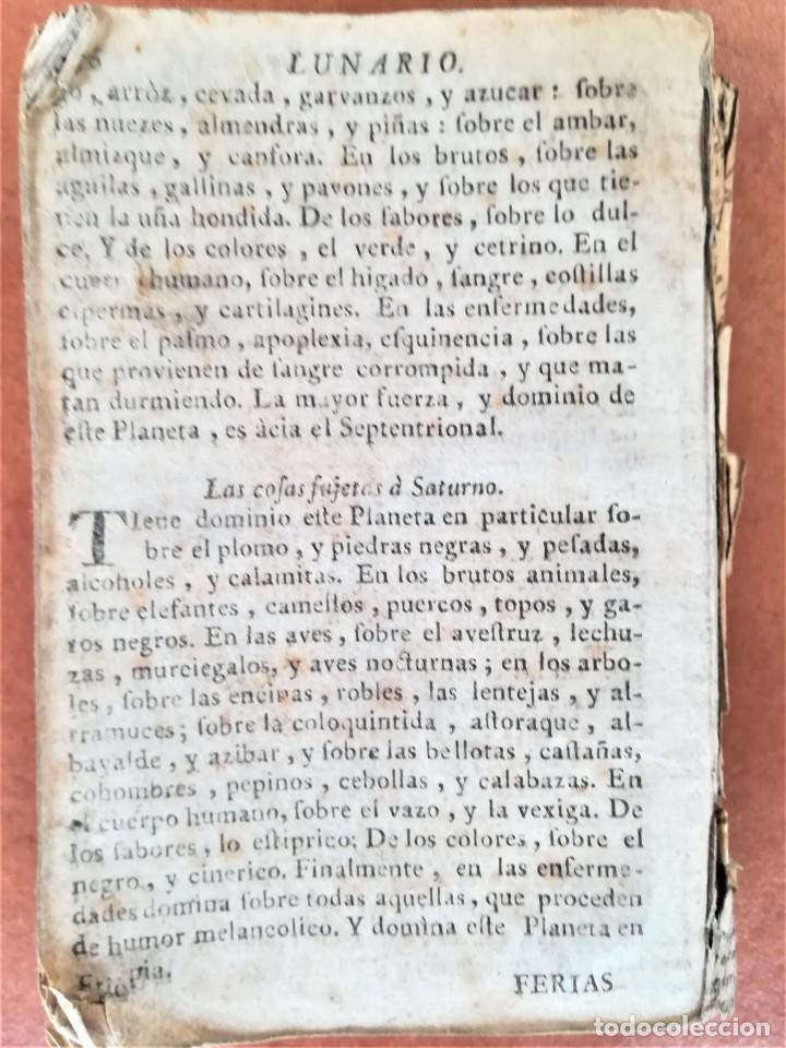 Libros antiguos: LIBRO ASTRONOMIA,LUNARIO PRONOSTICO PERPETUO GENERAL,AÑO 1768, SIGLO XVIII,ECLIPSES,ASTROS,PLANETAS - Foto 6 - 170552904