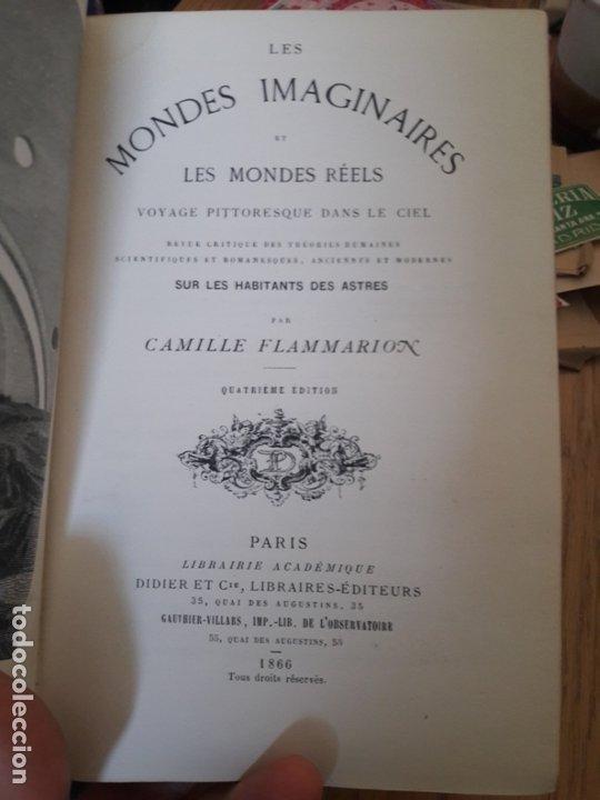 Libros antiguos: LES MONDES IMAGINAIRES ET LES MONDES RÉELS, Flammarion, Académique Didier et Cie,Paris 1866 - Foto 7 - 173001997