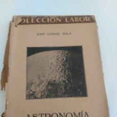 Libros antiguos: ASTRONOMIA - JOSE COMAS SOLA. Lote 173879005