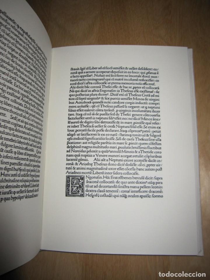 Libros antiguos: Poeticon astronomicon. Cayo Julio Higinio. Facsímil - Foto 11 - 174584834