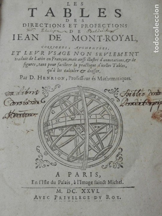 Libros antiguos: Las tablas de Jean de Mont-Royal Henrion año 1625 regiomontanus obra unica - Foto 2 - 174681507