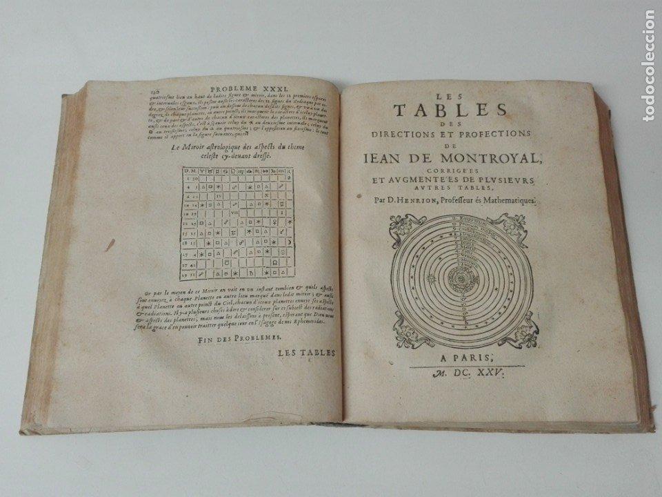 Libros antiguos: Las tablas de Jean de Mont-Royal Henrion año 1625 regiomontanus obra unica - Foto 11 - 174681507