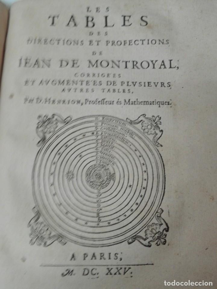 Libros antiguos: Las tablas de Jean de Mont-Royal Henrion año 1625 regiomontanus obra unica - Foto 12 - 174681507