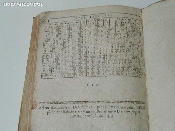 Libros antiguos: Las tablas de Jean de Mont-Royal Henrion año 1625 regiomontanus obra unica - Foto 15 - 174681507