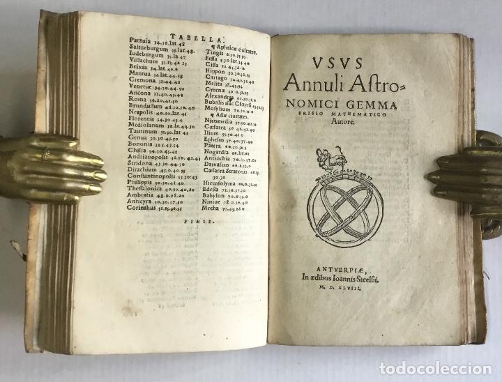 Libros antiguos: DE PRINCIPIIS ASTRONOMIAE ET COSMOGRAPHIAE. Deque usu Globi Cosmographici... GEMMA FRISIUS. - Foto 8 - 109024360