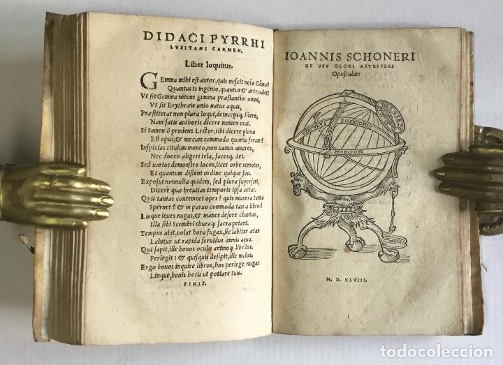 Libros antiguos: DE PRINCIPIIS ASTRONOMIAE ET COSMOGRAPHIAE. Deque usu Globi Cosmographici... GEMMA FRISIUS. - Foto 10 - 109024360
