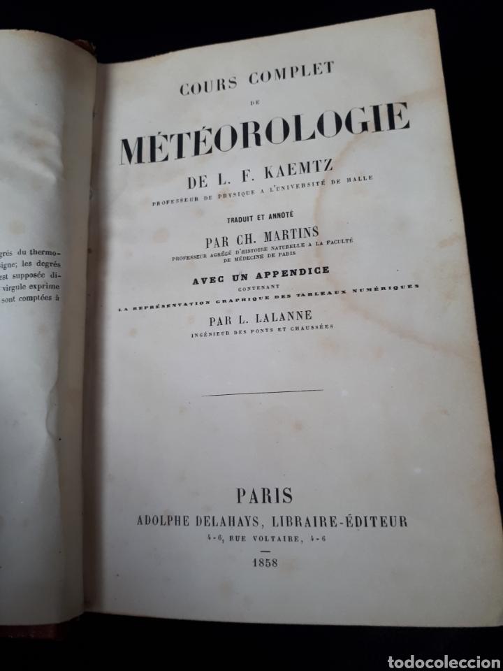 Libros antiguos: Libro de Meteorologia año 1858 escrito en frances. - Foto 3 - 176570324