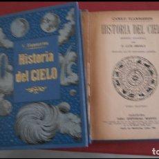Libros antiguos: HISTORIA DEL CIELO. CAMILO FLAMMARION. 2 VOLÚMENES. Lote 177401997