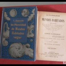 Libros antiguos: LA PLURALIDAD DE LOS MUNDOS HABITADOS. CAMILO FLAMMARION. 2 TOMOS. Lote 177496594