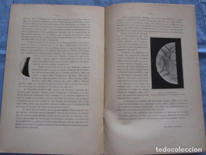 Libros antiguos: LIBRO NUEVAS OBSERVACIONES DE VENUS. AÑO 1898. EDUARD FONTSERÉ. IMPRENTA L'AVENÇ - Foto 3 - 178095293