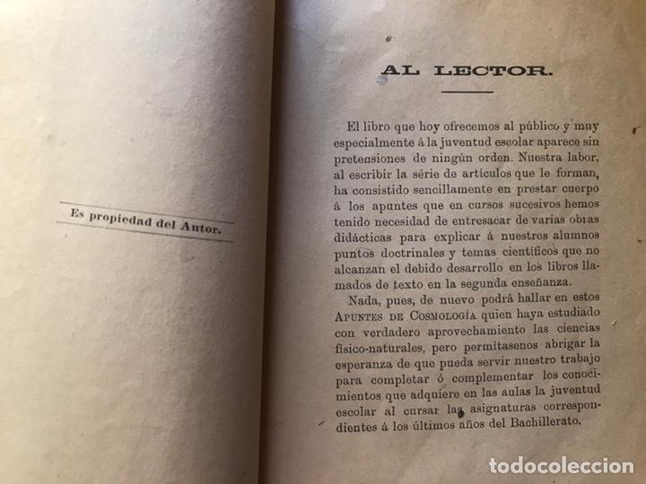 Libros antiguos: Apuntes de cosmología Liberio García tapia. Ciudad real. 1895. Raro. Difícil - Foto 9 - 178992455