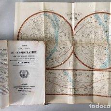 Libros antiguos: COSMOGRAPHIE… (P, 1848) COSMOGRAFÍA. GRABADOS: 1 PLANISFERIO CELESTE A COLOR Y 7 LÁMINAS.. Lote 181923758