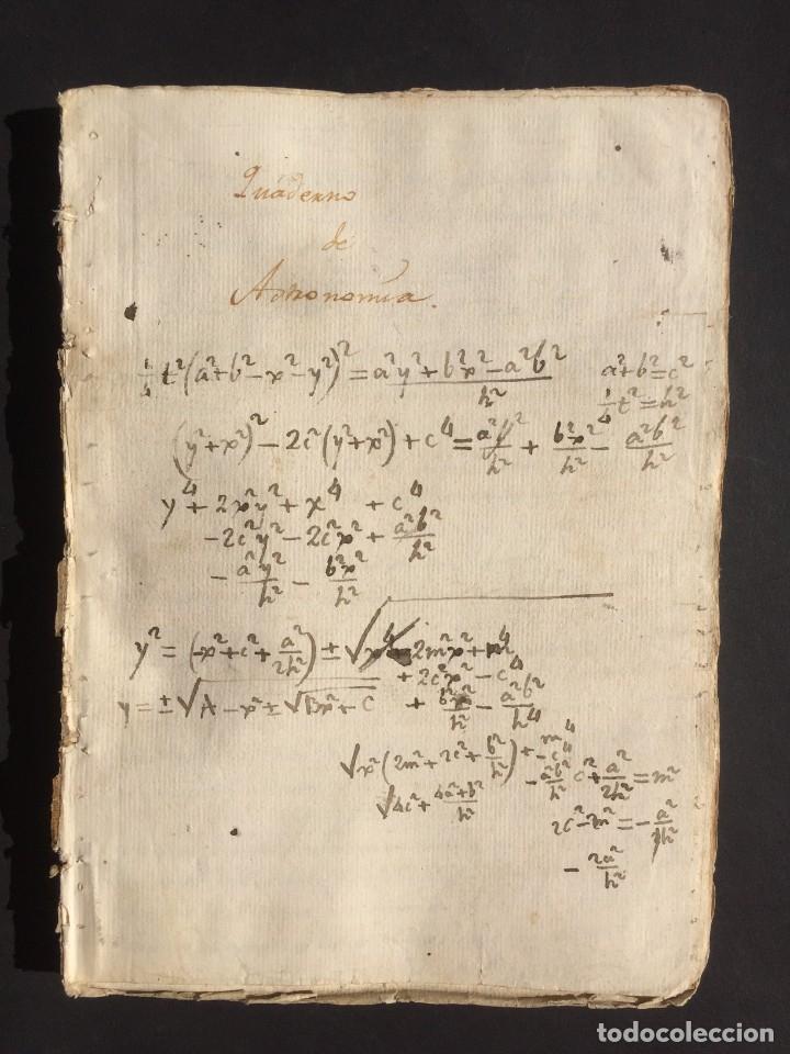 SIGLO XVIII AMPLIO MANUSCRITO DE ASTRONOMÍA - NUMEROSAS FIGURAS - MUY INTERESANTE (Libros Antiguos, Raros y Curiosos - Ciencias, Manuales y Oficios - Astronomía)