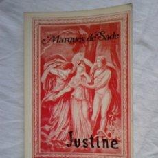 Libros antiguos: JUSTINE - MARQUÉS DE SADE (EDITORIAL FUNDAMENTOS, COL. ESPIRAL, 1976). Lote 182681328