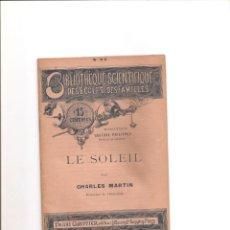 Libros antiguos: 53.LE SOLEIL. EL SOL. Lote 185913291