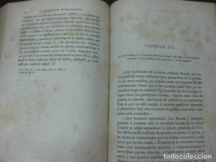 Libros antiguos: LA PLURALIDAD DE MUNDOS HABITADOS ANTE LA FE CATOLICA. NICETO ALONSO PERUJO. IMP. GASPAR EDIT.1877. - Foto 4 - 190115600