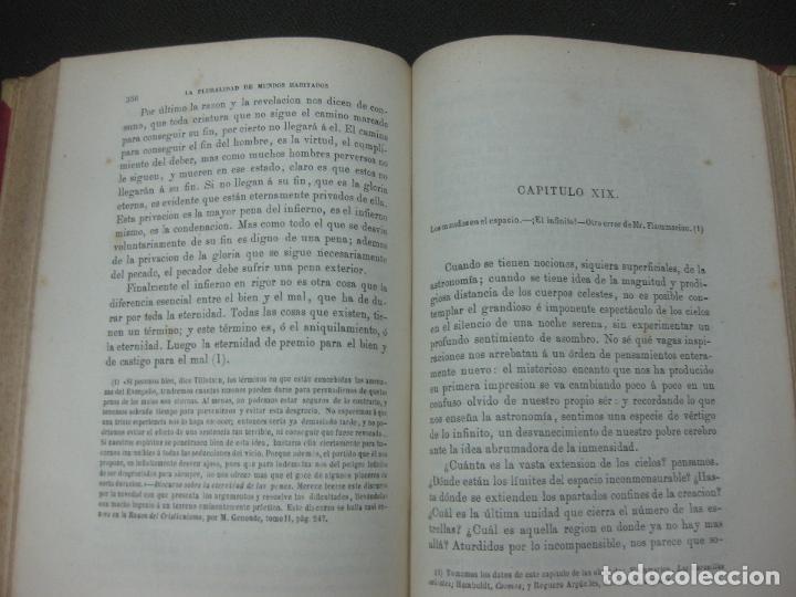 Libros antiguos: LA PLURALIDAD DE MUNDOS HABITADOS ANTE LA FE CATOLICA. NICETO ALONSO PERUJO. IMP. GASPAR EDIT.1877. - Foto 5 - 190115600