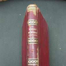 Libros antiguos: LA PLURALIDAD DE MUNDOS HABITADOS ANTE LA FE CATOLICA. NICETO ALONSO PERUJO. IMP. GASPAR EDIT.1877.. Lote 190115600