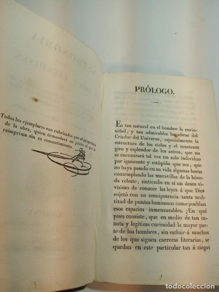 Libros antiguos: Astronomía para todos en doce lecciones. D. José Ciganal y Angulo. Gerona. 1829. Oficina de A. Oliva - Foto 4 - 192783413