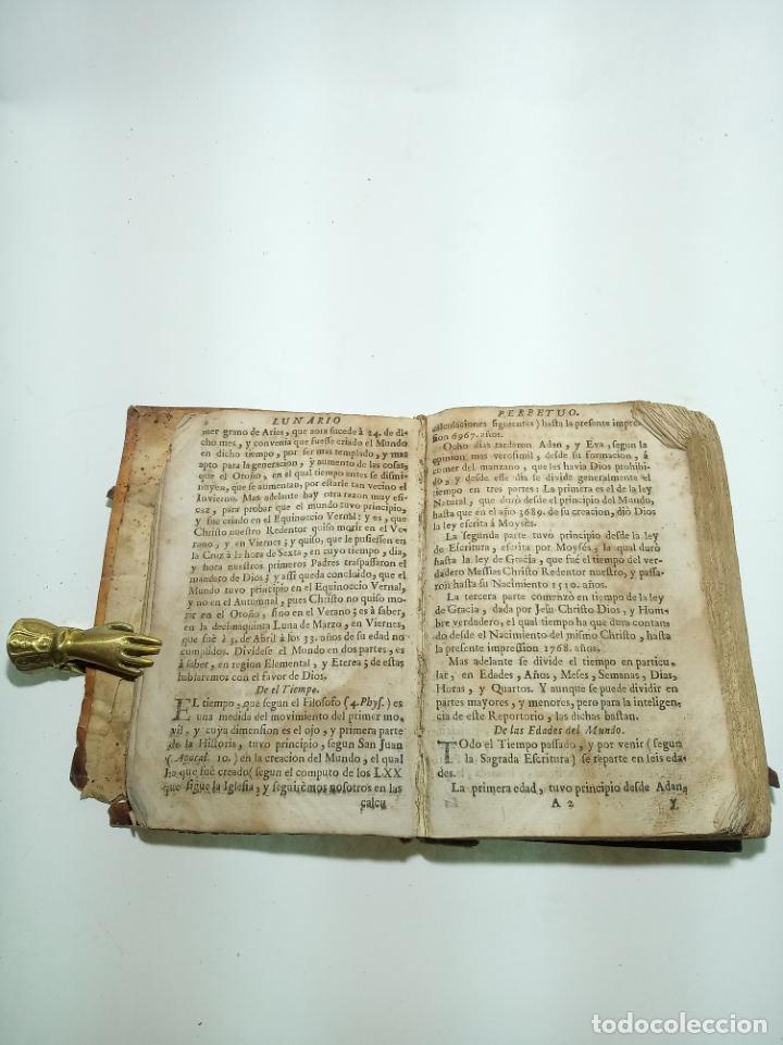 Libros antiguos: Lunario y pronóstico perpetuo, general y particular. Gerónymo Cortés. Grabados. Siglo XVIII. - Foto 6 - 193704207