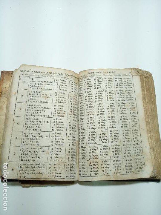 Libros antiguos: Lunario y pronóstico perpetuo, general y particular. Gerónymo Cortés. Grabados. Siglo XVIII. - Foto 7 - 193704207