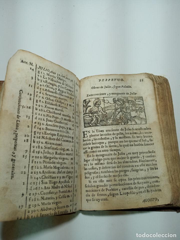 Libros antiguos: Lunario y pronóstico perpetuo, general y particular. Gerónymo Cortés. Grabados. Siglo XVIII. - Foto 9 - 193704207