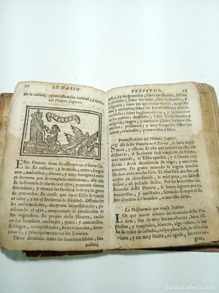 Libros antiguos: Lunario y pronóstico perpetuo, general y particular. Gerónymo Cortés. Grabados. Siglo XVIII. - Foto 10 - 193704207