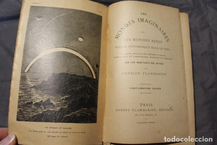 Libros antiguos: LES MONDES IMAGINAIRES ET LES MONDES RÉELS. CAMILLE FLAMMARION. TEXTO EN FRANCÉS - Foto 13 - 194493495