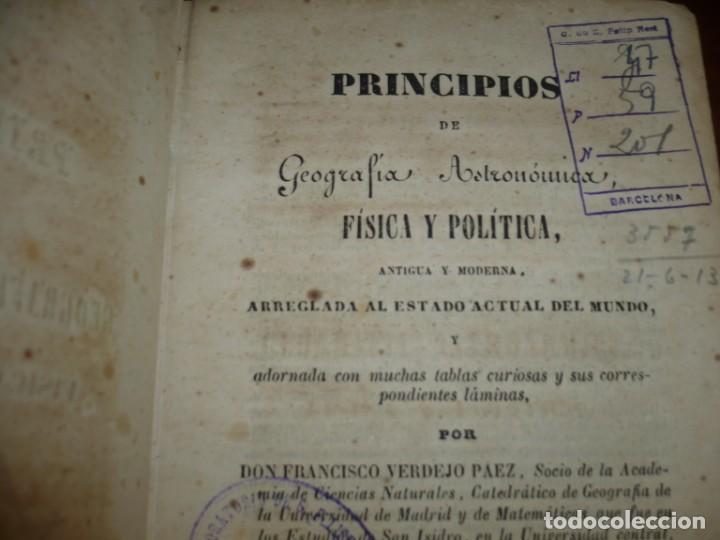 Libros antiguos: PRINCIPIOS DE GEOGRAFIA ASTRONOMICA FISICA Y POLITICA FRANCISCO VERDEJO PAEZ 1846 MADRID - Foto 3 - 194640992