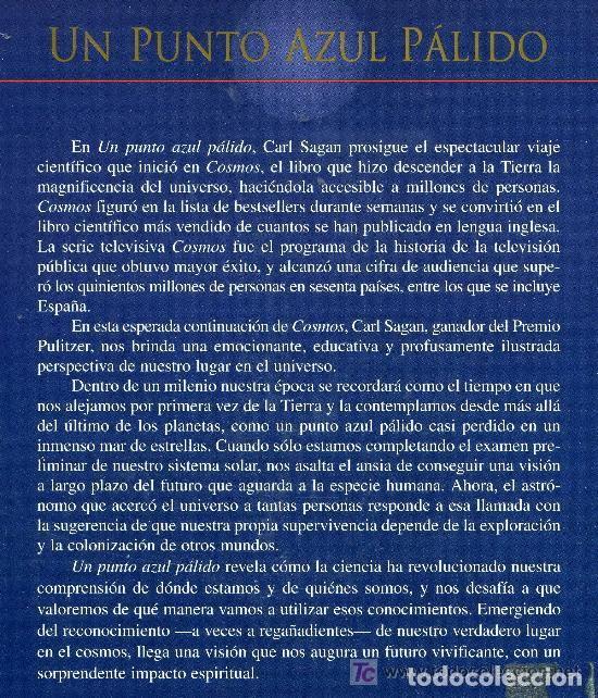 Libros antiguos: UN PUNTO AZUL PALIDO - TAPA DURA - Foto 2 - 195158756