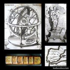 Livros antigos: AÑO 1742 PTOLOMEO COPÉRNICO ASTRONOMÍA ESFERA ARMILAR BRÚJULA EGIPTO SPANIA 29 GRABADOS MAPAMUNDI. Lote 195884356