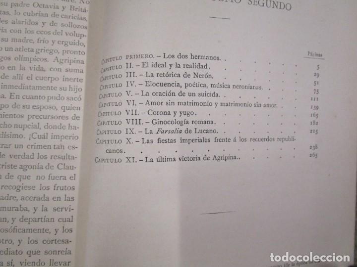 Libros antiguos: NERÓN, ESTUDIO HISTÓRICO - EMILIO CASTELAR -EDI MONTANER Y SIMÓN1891/93 3 TOMOS + INFO - Foto 6 - 198605972