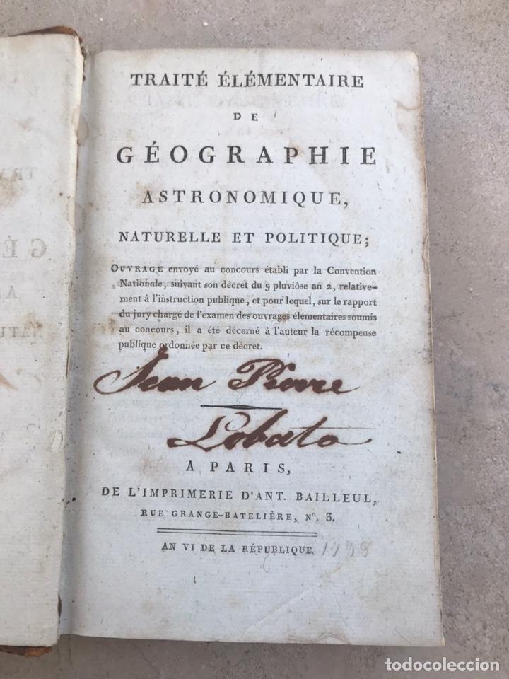 Libros antiguos: Tratado francés de geografía y astronomía. Siglo XVIII. Libro - Foto 2 - 202868516