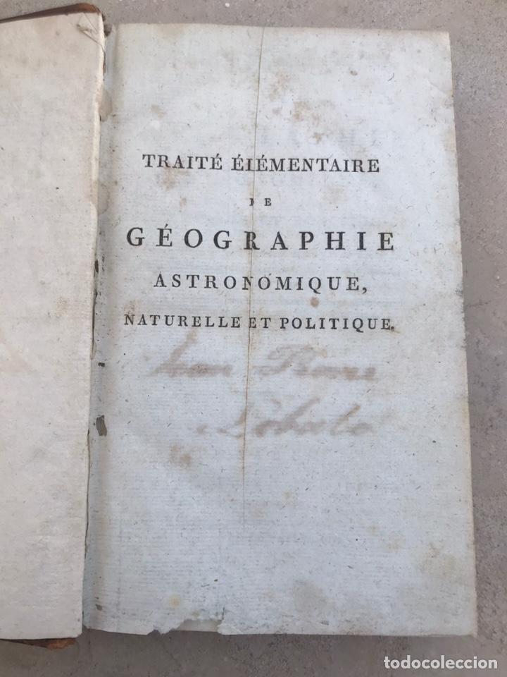 TRATADO FRANCÉS DE GEOGRAFÍA Y ASTRONOMÍA. SIGLO XVIII. LIBRO (Libros Antiguos, Raros y Curiosos - Ciencias, Manuales y Oficios - Astronomía)