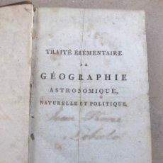 Libros antiguos: TRATADO FRANCÉS DE GEOGRAFÍA Y ASTRONOMÍA. SIGLO XVIII. LIBRO. Lote 202868516